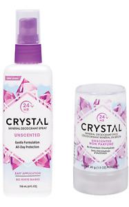 Crystal Natural Mineral Salt Body 118ml Deodorant + 40gStick No Aluminium Bundle