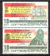 Spain - 1985 200 years national flag - Mi. 2674-75 MNH