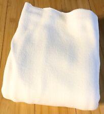 White Micro Fleece Fabric by the yard