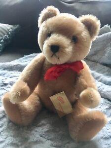 "Vintage 13"" HERMANN Original TEDDY BEAR Jointed Humpback-Tag"