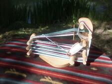 Quite Rustic Portable Wee Sized  Inkle Weaving Loom /Tool/Instructions