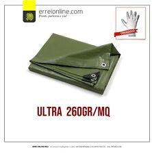 Telo PVC ULTRA 260gr occhiellato copertura impermeabile esterni VERDE
