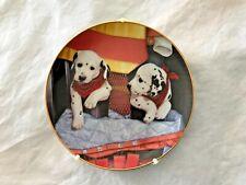 Pups 'N Boots Fire Capers, Marty Roper, Dalmatians Puppy Dog, Danbury Mint Plate