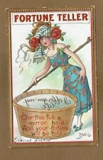 """Artist signed DWIG Mirror series, """"I Offer you my Life"""" lovely lady at Wash tub"""