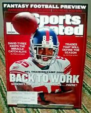 Sports Illustrated August 2008 David Tyree New York Giants