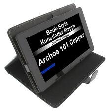 Sac pour Archos 101 Copper Type Livre Tablette Sac Étui de Protection Porte Noir