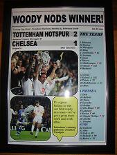 Tottenham Hotspur 2 Chelsea 1 - 2008 Carling Cup final - framed print