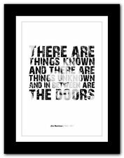 More details for jim morrison ❤ typography quote poster art limited edition print the doors #49