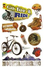 Handmade Glitter Sticker Scrapbooking  Extreme Biking Outdoors Bike Ride