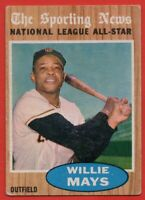 1962 Topps #395 Willie Mays AS VG-VGEX MARKED San Francisco Giants FREE SHIPPING
