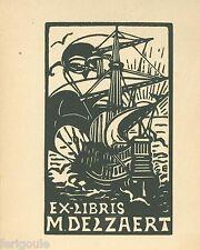 EX-LIBRIS de M DELZAERT par Marguerite Callet-Carcano.
