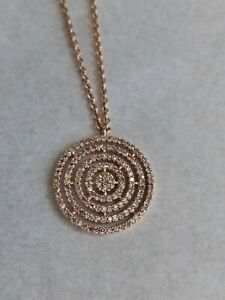 "Astley Clarke 14ct Rose Gold & Diamond Aura Pendant - 18"" Chain"