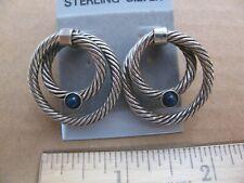 Black Onyx Sterling Silver Pair Of Earrings Women's Jewelry