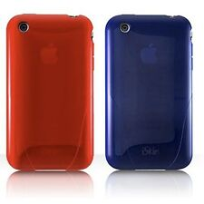 iSKIN SOLO silicone case, Apple iPhone 3G/3GS - Blue or Red colour, NEW Oz Stock