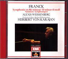 Herbert von KARAJAN: FRANCK Symphony Symphonic Variations CD Alexis WEISSENBERG