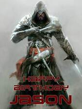 Personalised Assassins Creed Birthday Greeting Card & Envelope 145
