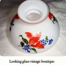 Antique Library Lamp Shade Floral