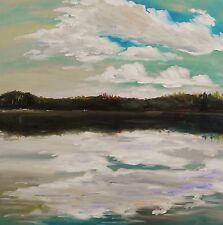 ORIGINAL Sea Maine Landscape Oil Painting JMW art John Williams Realism