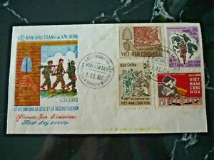 Vietnam - Saigon 1963 First Day Cover - Fight and Reconstruction in Vietnam