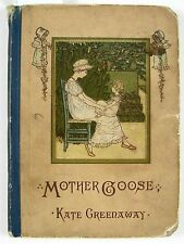 ca 1880 MOTHER GOOSE Kate Greenaway; Edmund Evans; Routledge NY Author's Edition