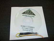 CONNEX 33 3300 3400 3600 4300 4400 SLMM-1  SUPER MOD--HIGH AUDIO AND SWING POWER