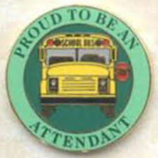 Exclusive, Proud To Be a School Bus Attendant Lapel / Hat Pin
