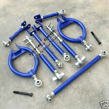 240SX S13 s14 SILVIA BLUE FRONT+REAR SUSPENSION KIT +TRACTION TIE TOE CAMBER ROD