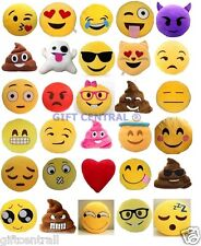 USA / SELLER SET OF 3 Emoji Pillows 12'' Inch Large Yellow Smiley 30cm Emoticon