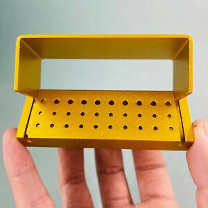 Dental High Low FG RA Bur Burs Holder Block Disinfection Box Autoclave 30 Hole