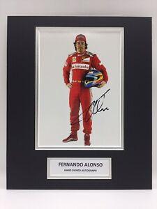 RARE Fernando Alonso Ferrari Formula One F1 Signed Photo Display + COA