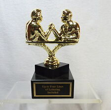 METAL ARM WRESTLING TROPHY ADONIS BODY BUILDER TROPHY  WEIGHTLIFTER TROPHY #1