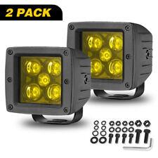 """2x3""""In Amber LED Work Light Bar Cube Pods Spot Flood Combo Fog Bull Bar Off Road"""