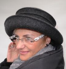 Women's hat in grey elegant Model Bestseller hats Wool Event formal occasion cap