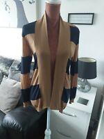 Massimo dutti woman Sz M 10 12 Striped Soft Cotton Cardigan