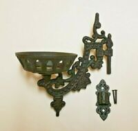 """9"""" CAST IRON WALL BRACKET FOR OIL LAMP EARLY AMERICAN / VICTORIAN STYLE 73805JB"""