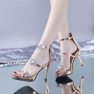 Breathable Chic Strap Back Zip Stiletto Heel Sandals Sexy Nightclub Women Shoes