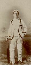 Cricket Player, Vintage Original Sport Photo with ID on the back.