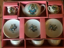 Rare Vintage Walt Disney Productions Alice In Wonderland Toy China Tea Set