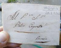 1841 PREFILATELICA DA INZINO (GARDONE VAL TROMPIA) NEL BRESCIANO A BRESCIA