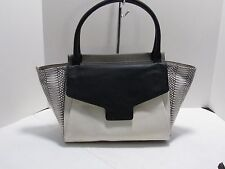 Authentic Vince Camuto Julia Genuine Leather Satchel - White/Gray/Black/Snake
