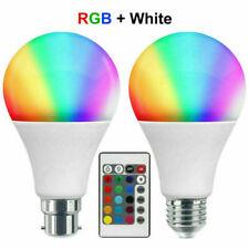 RGB Bulb LED Light B22 16 Colour Changing Remote Control Party Disco Magic Lamp