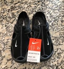 NEW!!!  NIKE SUNRAY PROTECT (PS) BLACK SANDAL BOYS SIZE 2Y