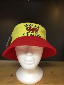 Welsh Red Dragon BUCKET HAT,BUSH HAT,  Wales Rugby, Football, Cymru