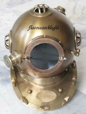 NAUTICAL ANTIQUE FINISHED ANCHOR ENGINEERING STEEL DIVERS DIVING HELMET