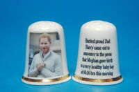 Archie's Proud Dad Prince Harry Meets The Press China Thimble Thimble B/37
