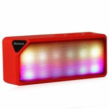 Mini Speaker X3S LED RED Built-in mic Wireless Bluetooth 2.0 * sent from Europe
