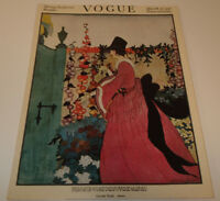"""VOGUE """"Spring Fashions Number"""" March 15, 1918  Print 1970's"""