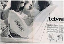 PUBLICITE ADVERTISING 104 1969 BABY RELAX siège pour enfant