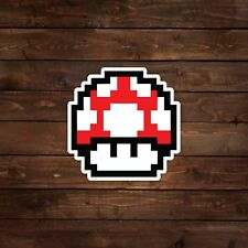 8-Bit Red Mushroom (Super Mario) Decal/Sticker