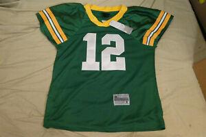 Reebok On Field Green Bay Packers AARON RODGERS #12 NFL Jersey Women's Small NEW